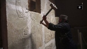 Source:  http://www.dailymail.co.uk/news/article-3035534/Video-Islamic-State-group-destroys-ancient-ruins-Nimrud.html
